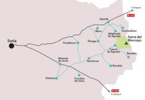 Mapa de Ruta por el Moncayo
