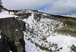 Laguna Negra nevada en invierno