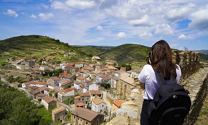 Vistas desde el Castillo de Magaña en Tierras Altas de Soria